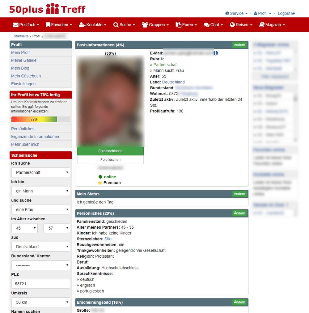 50plus-Treff Profil