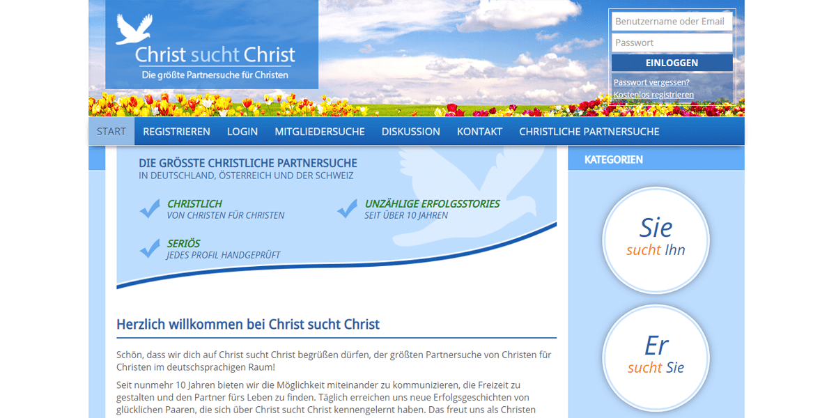 Christ sucht Christ - Religiöse Singlebörsen