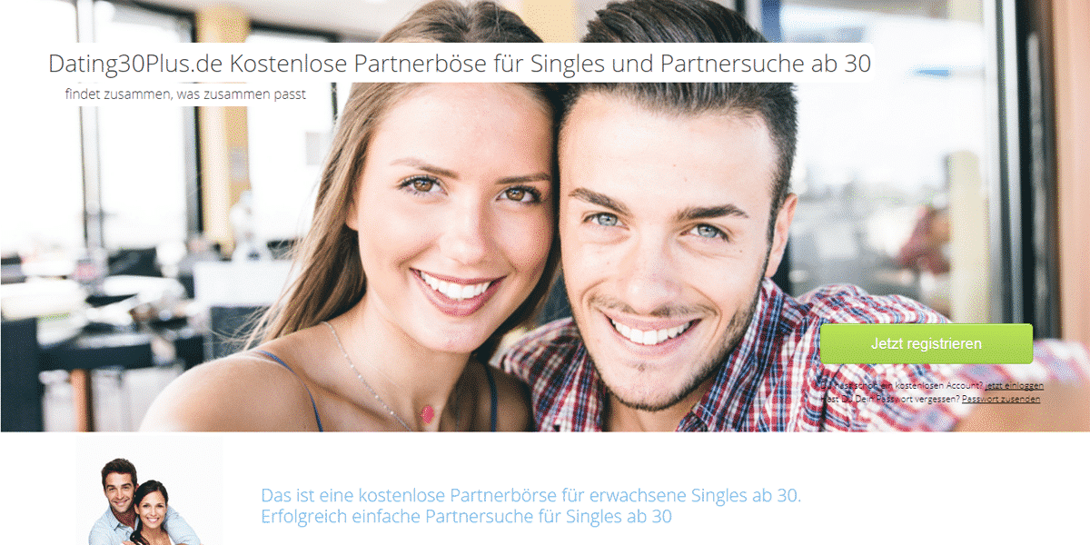 Dating30plus.de Startseite