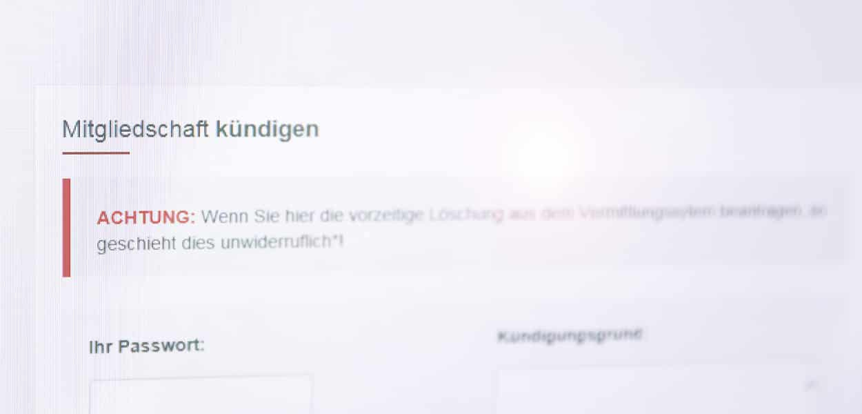 Online-Dating Kündigung