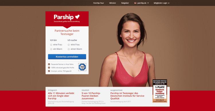 Parship Startseite