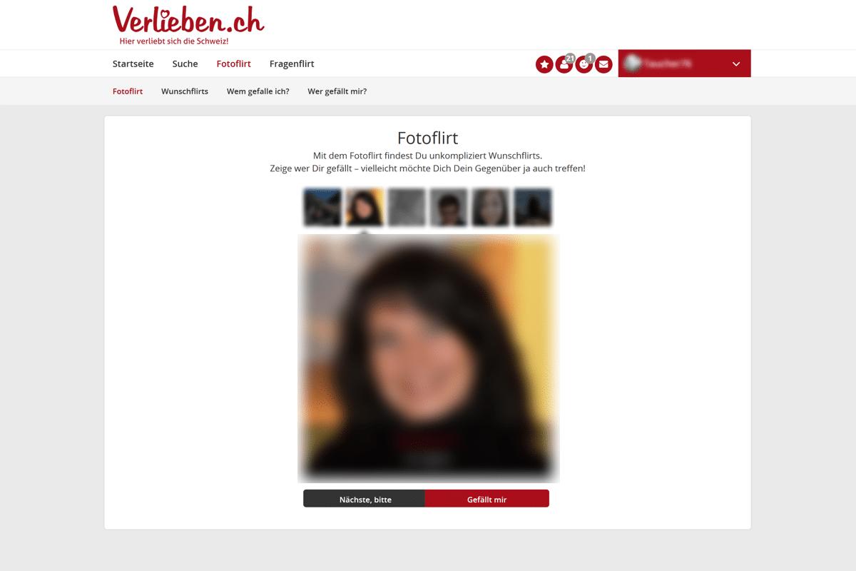 Fotoflirt auf Verlieben.ch